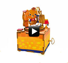 3D Wooden Puzzle Love Story Crank Music Box Robotic Robotime Jigsaw Diy Wooden