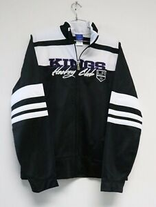 Reebok NHL LA Kings Hockey Club Full-Zip Large Track Jacket Black White