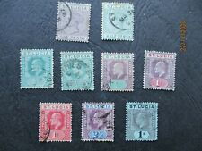 9  EARLY St LUCIA  STAMPS  1882/1902