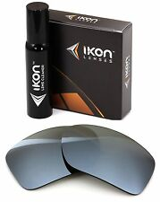 Polarized IKON Iridium Replacement Lenses For Oakley Big Taco - Silver Mirror