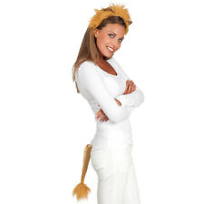 Lion Ears & Tail Animal Jungle King Cub Book Week Day Fancy Dress Costume Set