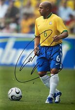 Roberto Carlos Genuine Hand Signed Brazil 18x12 Photo, Photo Proof