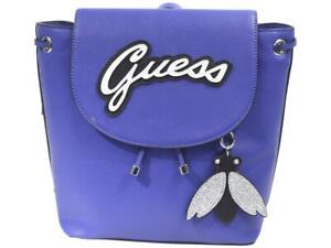 Guess Women's Varsity Pop Pin-Up Blue Backpack Bag