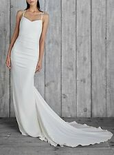 NICOLE MILLER CELINE BRIDAL WEDDINGOWN DRESS FJ10012 $1200 SZ 4 NWT