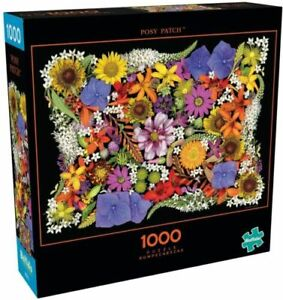 1000 Piece Posy Patch Floral Vivid Jigsaw Puzzle