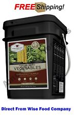 "Wise Food Company 160 Servings ""Gluten Free"" Freeze Dried Vegetables"