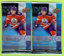 LOT OF (2) PACKS 2016-17 UPPER DECK S1 HOCKEY RELIC, PATCH OR AUTO HOT PACK