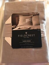 "One Fieldcrest Linen Euro Pillow Sham 26x 26"" Nwt Gray Grey"