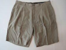 Tommy Bahama Khaki Silk Shorts 36 Pleated