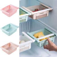 Adjustable Fridge Kitchen Organizer Storage Rack Holder Slide Shelf Space Saver