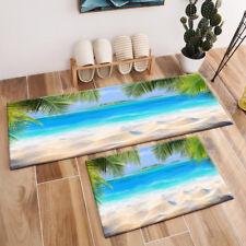 Tropical Sand Beach Palm Leaves Paradise Island Area Rugs Door Bedroom Floor Mat