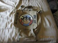 Original WW2 USAAF PEGLEG PETE 603 RD BOMB SQDN   PAINTED P37 BACK PACK W/STRAP