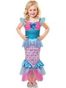 Child Mermaid Sparkle of the Sea Costume Ariel Book Week Day Fancy Dress Outfit