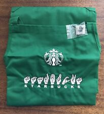 "ULTRA RARE HTF Starbucks ASL Apron & ""I Sign"" Pin - Sign Language Apron"
