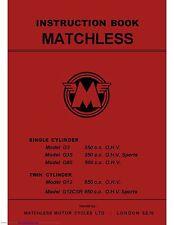 Matchless Maintenance Instruction Manual G3, G3S, G80, G12 & G12CSR
