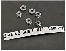 6x F682ZZ Metal Double Shielded Flange Ball Bearings 2 x 5 x 2.3mm US Seller