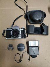 Honeywell Pentax H3v Camera W/ Asahi Optical Super Takumar 1:3.5/35mm flash