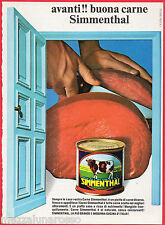 Pubblicità Advertising 1969 carne in scatola SIMMENTHAL