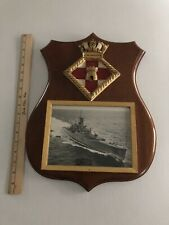 HMS Londonberry Ships Crest Plaque with Photo Royal Navy Free Shipping to UK