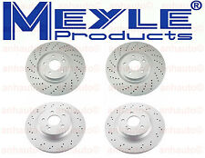 NEW Mercedes W211 E55 AMG 2003-2006 MEYLE Front and Rear Disc Brake Rotors KIT