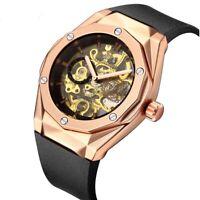 Best New Arrival Paulareis Automatic Skeleton Rubber Men's Wrist Watch