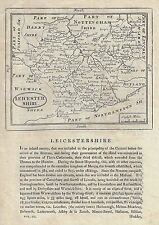 "Grose Map - c1780 - ""LEICESTERSHIRE"" - Copper Engraving"
