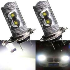 2X 50W H7 472 CREE LED WHITE 6500K BULBS HEADLIGHT LIGHT LAMP CANBUS ERROR FREE
