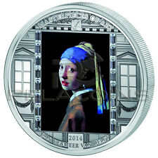 Cook Islands 2014 20$ Masterpieces of Art - Vermeer Van Delft 3oz