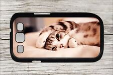 CAT KITTEN ON BED FOR SAMSUNG GALAXY S3 CASE COVER -odf5Z