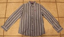 Abercrombie Boys Size XL Striped Button Down Long Sleeved Collared Shirt