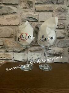 Personalised Any Name & Initial Balloon Gin Glass Birthday Hen Party Christmas
