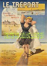 """""""Sncf"""" Le Tréport vers 1900  - tourisme - affiche plastifiée"""