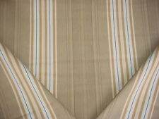 16-5/8Y ROBERT ALLEN BEAUTIFUL HOLMDEL DRIFTWOOD COTTON STRIPE UPHOLSTERY FABRIC