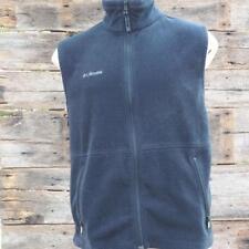 Columbia Fleece Full Zip Vest Jacket Mens Black Size L