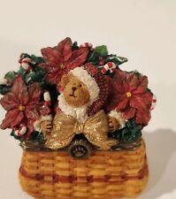 BOYDS LONGABERGER TREASURE BOX HO HO SPARKLEBEARY CHRISTMAS TRADITIONS BASKET