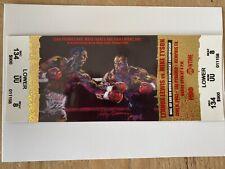 Rare Lennox Lewis vs Mike Tyson Boxing Full Ticket (2002) Memphis, TN