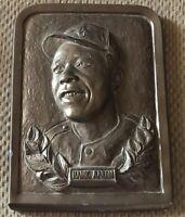 Vintage Atlanta Braves Great Hank Aaron 8 1/2 By 15 Inch Plaque,Very Rare