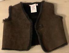 Bonpoint Shearling Fur Vest, Size 2