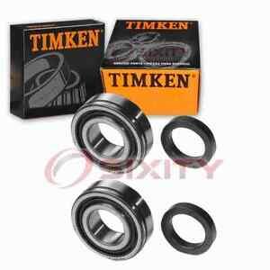 2 pc Timken Rear Wheel Bearings for 1955-1956 Chevrolet Two-Ten Series Axle st
