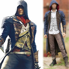 Assassin's Creed Unity Arno Victor Dorian Denim Cloak Coat Hoodie Jacket