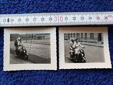 Foto 2x NSU Lambretta Motorroller Duisburg 1955 Erlerstraße Gärtnerstraße