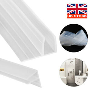 2m F Shape Bath Shower Screen Door Seal Strip For Glass Thickness 6mm Seal Gap