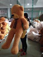 78'' Giant Big Teddy Bear Brown Plush Stuffed Soft Toys Doll Gift Free Shipping