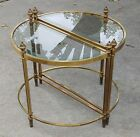 Maison Jansen Style Regency Neoclassical Brass Cocktail Coffee Occasional Tables