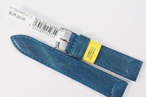 MORELLATO  Uhrenarmband 20mm weiches Kalbsleder Blau Water resistant