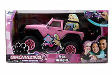New Jada Toys Girlmazing Big Foot Jeep R C Vehicle 1:16 Scale Pink