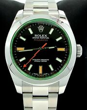 Rolex Milgauss 116400 Green Crystal Black Dial Oyster PAPERS MINT NO RESERVE!!!