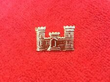 US ARMY CORPS OF ENGINEERS CASTLE INSIGNIA HAT PIN
