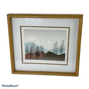 Phil Dimmer Dawn Original Serigraph Mountains Trees Signed Numbered 5/30