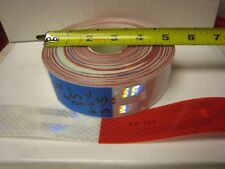 """WHITE RED Reflective   Conspicuity Tape 1-1/2"""" x 85' 6-6LS"""